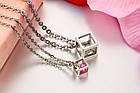 Парные кулоны для влюбленных Алмазный куб, фото 9