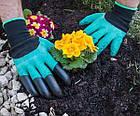 Перчатки хозяйственные с когтями для сада и огорода Garden Genie Gloves, фото 4