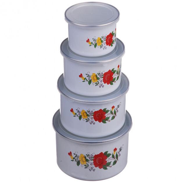 Емкости для хранения пищевых продуктов A-PLUS 0965 4 шт