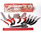 Набор самозатачивающихся кухонных ножей CONTOUR PRO Knives 10 штук + магнитная рейка, фото 2