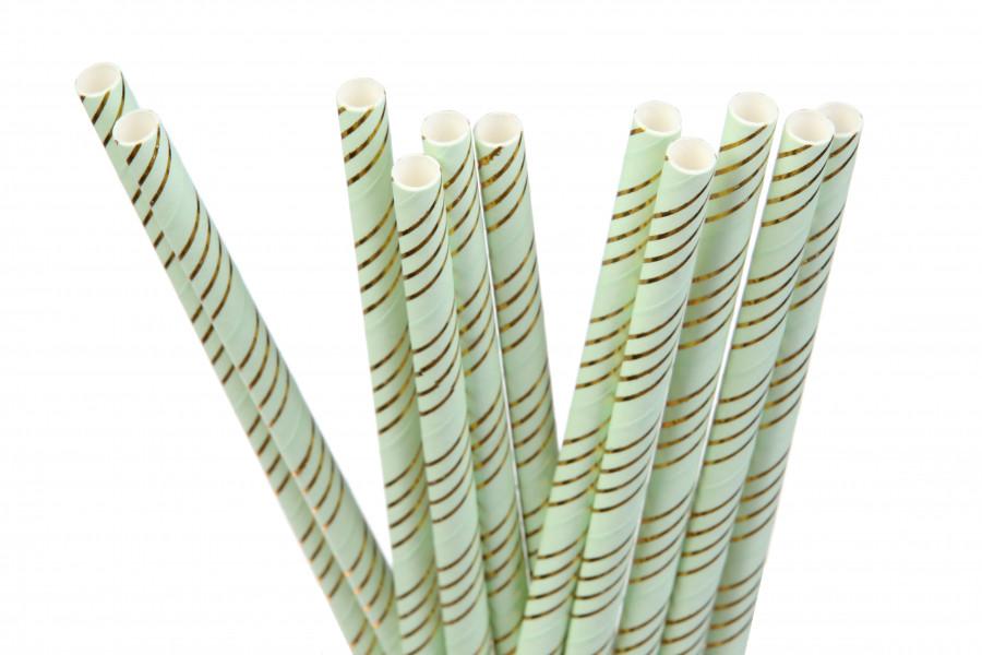 "Бумажные трубочки ""Gold stripes"" (10 шт.)"