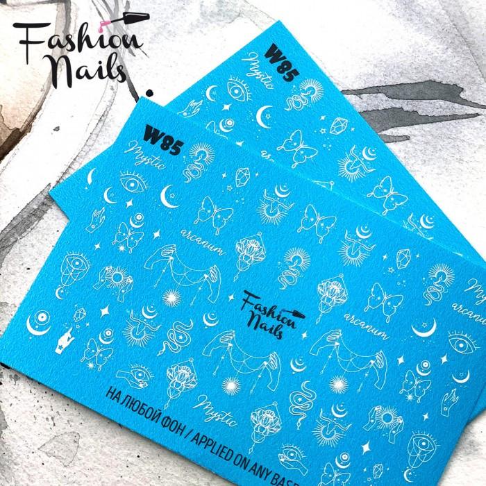 Слайдер дизайн ловець снів змії Метелики - Водні наклейки для нігтів Fashion Nails W85 Езотерика Містика