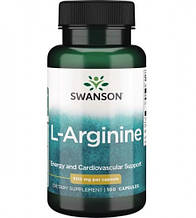 Биологически активные добавки Свансон Аргинин США Swanson Arginine USA 500 мг 100 капсул