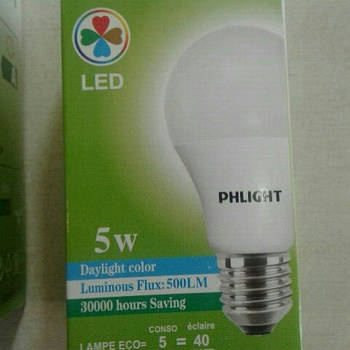 Світлодіодна лампочка LED 6500 K 5 W PHLIGHT