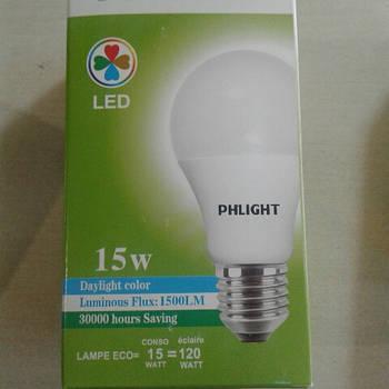 Світлодіодна лампочка LED 6500 K 15 W PHLIGHT
