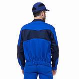 Куртка НОВАТОР з ПВХ, тк.Zibo (65%п/е+35%х/б), васил./т. синій, фото 3