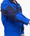 Куртка НОВАТОР з ПВХ, тк.Zibo (65%п/е+35%х/б), васил./т. синій, фото 6