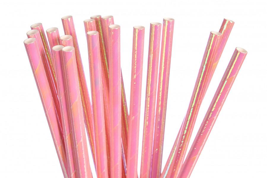 """Бумажные трубочки """"Pink chameleon"""" (10 шт.)"""