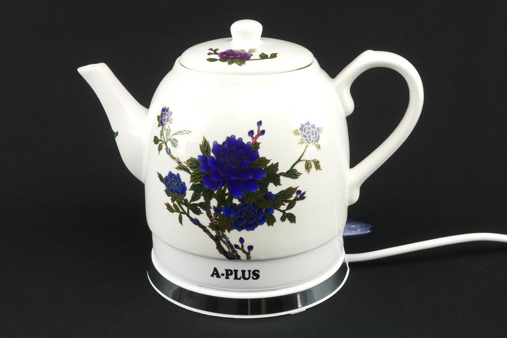 Электрочайник керамический А-плюс, надежный электрический чайник, техника для кухни 1,4 L