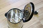 Электрочайник металлический термос Scarlett Zy-180c3 1850Вт, надежный электрический чайник из нержавейки, 2 L, фото 3