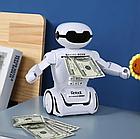 Іграшка дитяча Robot PIGGY BANK | Дитяча скарбничка сейф з кодовим замком, фото 3
