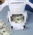 Іграшка дитяча Robot PIGGY BANK | Дитяча скарбничка сейф з кодовим замком, фото 8