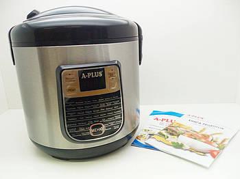 Мультиварка рисоварка для дома А-Плюс 1468, электро скороварка, пароварка, 5 литров