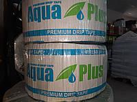 Крапельна стрічка Аква-плюс (Aqua-plus) - 8mils*10см*1литр в годину 500м, фото 1