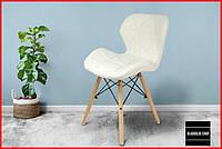 Кресло Jumi Scandinavian (белый) Экокожа Скандинавский стул Для кухни Для кафе и ресторанов Кресло обеденное