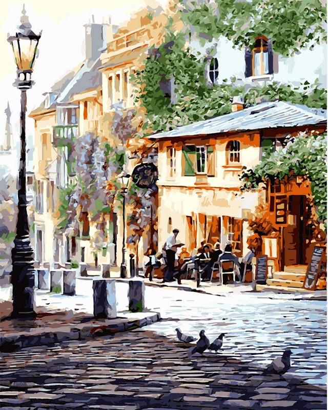 Рисование по номерам 40×50 см. Италия Летнее кафе