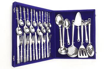 Набор столовых предметов приборов ложки вилки ножи Ernesto Zoo - 32 предмета