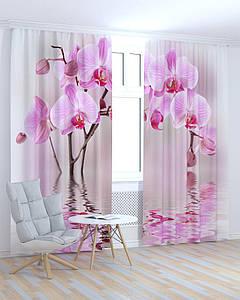 Фотошторы рожева орхідея 3д