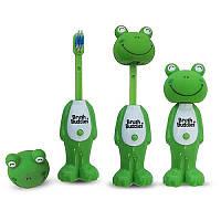 Мягкая зубная щетка для детей Лягушка Луи Iherb Brush Buddies