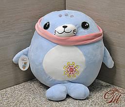 Плед - м'яка іграшка 3 в 1 (Тюлень блакитний)