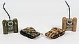 Танковий бій на радіокеруванні 529 ІС-2, 2 танки, поворот, звук, пульт, фото 2