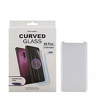 Захисне скло UV для Samsung G955 S8 Plus (0.25 мм, 3D, прозоре) в комплекті з UV клеєм і лампою