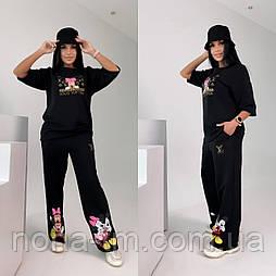 Стильний костюм жіночий спортивний з футболкою