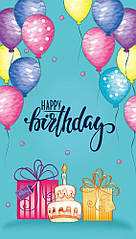 Конверти для грошей Happy Birthday, 10 шт/уп