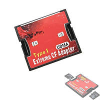 Адаптер на 2 карты MicroSD MicroSDHC MicroSDXC под CF Type I