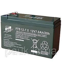 Стаціонарна акумуляторна батарея FAAM FTS 12-7.0, свинцево-кислотна акумуляторна батарея