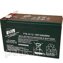 Стаціонарна акумуляторна батарея FAAM FTS 12-7.2, свинцево-кислотна акумуляторна батарея