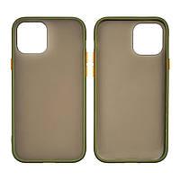 Чехол Totu Gingle series для Apple iPhone 12/ 12 Pro зелёный хаки