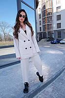 Стильний брючний костюм, піджак двобортний, на підкладці. розміри: s (42-44) m (44-46), є заміри!!