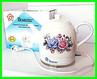 Электрочайник Керамическии 1.5 литра Электрический Чайник