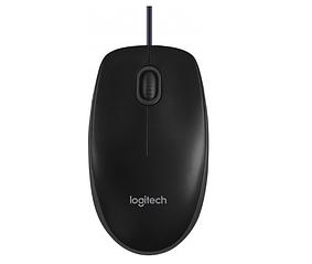 Миша Logitech B100 USB Black (910-003357) Довжина кабелю 1.8 м, датчик оптичний, 800 dpi