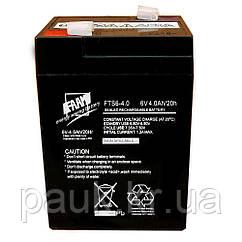Акумуляторна батарея FAAM FTS 6-4.0, свинцево-кислотна стаціонарна акумуляторна батарея