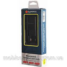 Зарядний пристрій Florence 2A type-c чорний