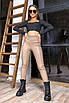 Жіночі лосини з еко шкіри з високою талією, фото 2