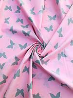 Бязь Gold Розовые бабочки компания  220 см