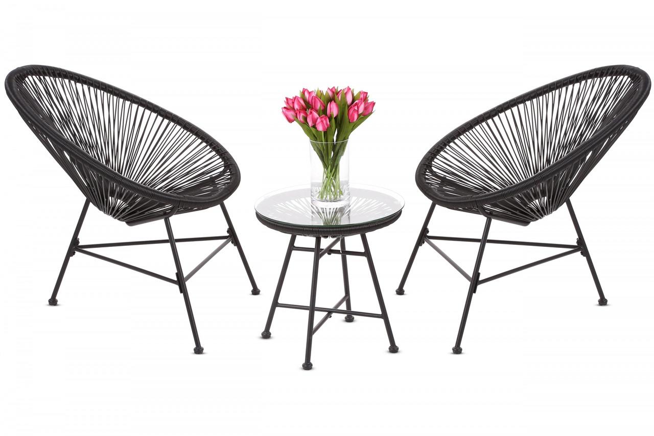 Комплект мебели из техноротанга Fiji Black / Black