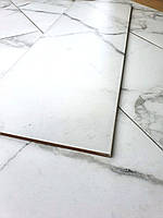 Нескользкая полуматовая Плитка для пола под Белый Мрамор Arabesque 255х759 мм Керамогранит напольный