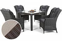 Комплект мебели из техноротанга Bristol Square Brown Mat 4 + 1, фото 1