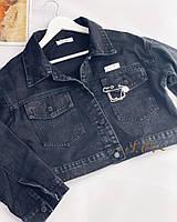 Жіноча стильна джинсова куртка МОМ