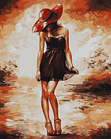 Раскраски по номерам 40×50 см. Черное платьице, фото 1