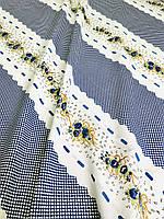 Бязь Gold Кружево синие  220 см, фото 1