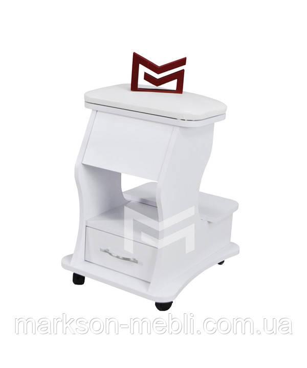 Педикюрная подставка М217 с ящиком и мягкой подушкой для ног