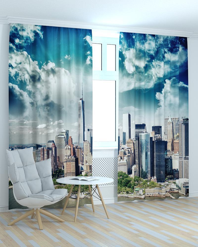Фотошторы хмари над Нью Йорком