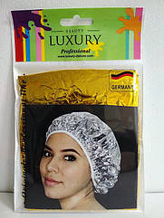 Шапочка для душа из фольги Beauty LUXURY термостойкая CS-06 Золотая фольга