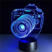 Сменные пластинки 3D светильников, ночников