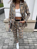 Піджак на підкладці + штани (на поясі гумка) в трендових принтах, розміри: s (42-44), m (44-46)